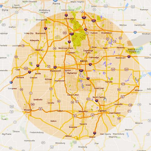 rubber city auto glass serving Summit, Medina, Portage, Stark, Wayne counties